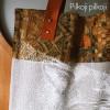 Malonumų Lapės krepšys PILKASIS (odinėmis rankenomis)